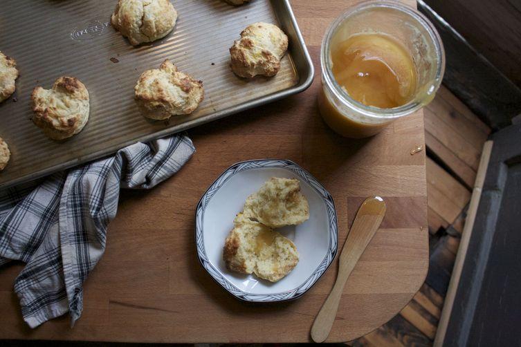 Orange Honey Ricotta Biscuits