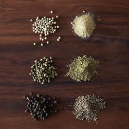 Oaktown Spice Shop Tellicherry, White, and Green Whole Peppercorns