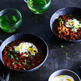 Pomegranate Stars in This Homey, Vibrant Bean Soup