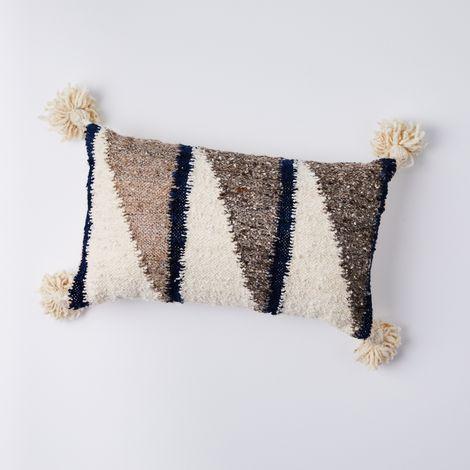 Abstract Wool Lumbar Pillow