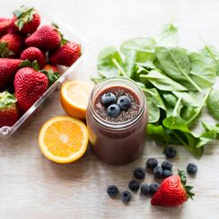 Chia Berry Green Smoothie
