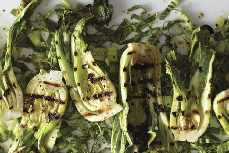 Grilled Bok Choy with Miso Butter