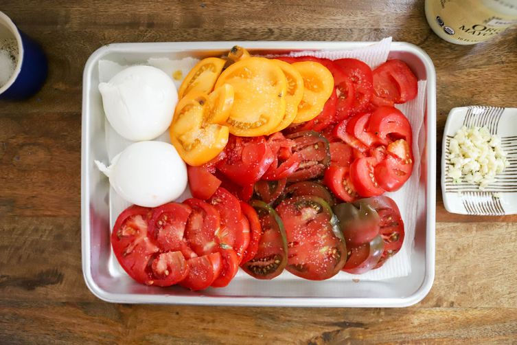Heirloom Tomato Galette with Burrata