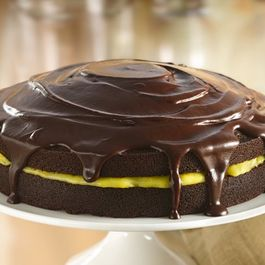 Chocolate Cake With Orange Filling And Chocolate Glaze