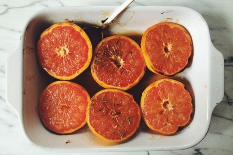 Broiled Grapefruit with Honey, Cinnamon & Cayenne Pepper