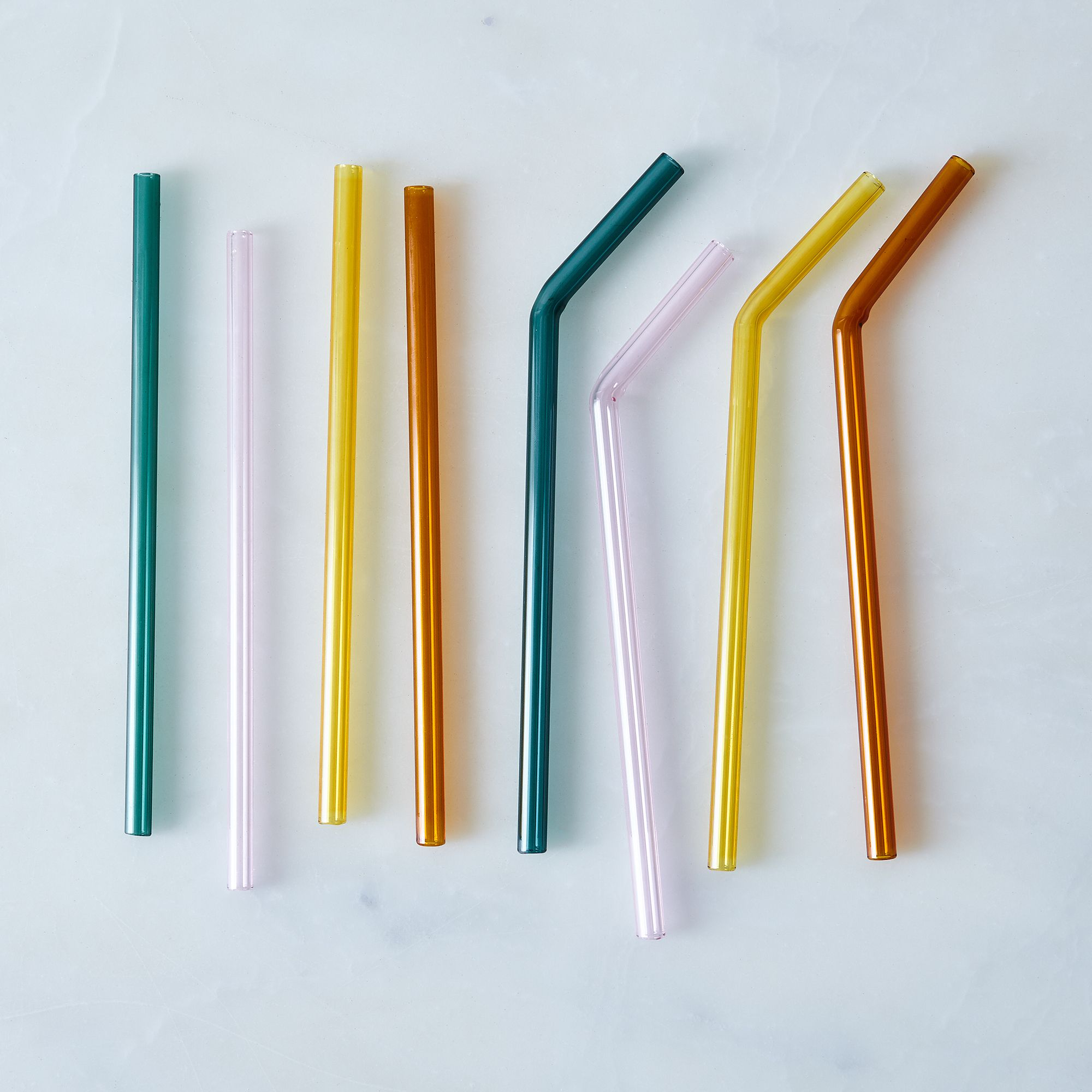 glass straws set of 4 on food52