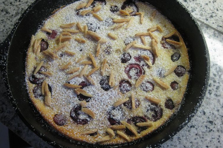 Cherry and almond clafoutis
