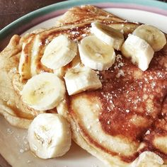White Chocolate Banana Pancakes