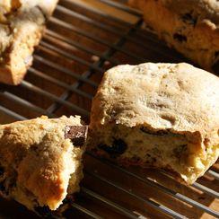 Double Almond, Dark Chocolate & Cream Scones
