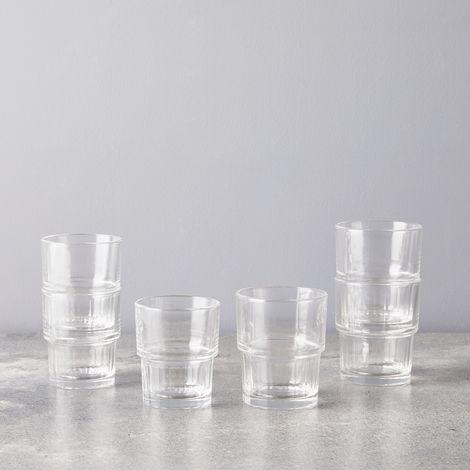 Stackable Lyon Glasses (Set of 6)