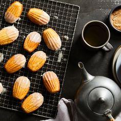 Glazed Eggnog Madeleines