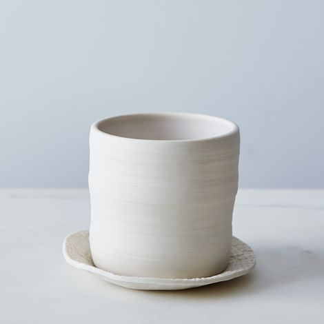 Hand-thrown Ceramic Planter & Dish