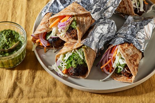 Spicy Beef Kebab Rolls