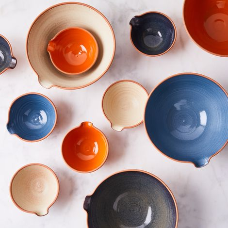 Handthrown Rustic Ceramic Pour Bowls
