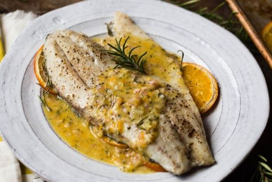 Slow Roasted Barramundi with Rosemary and Orange