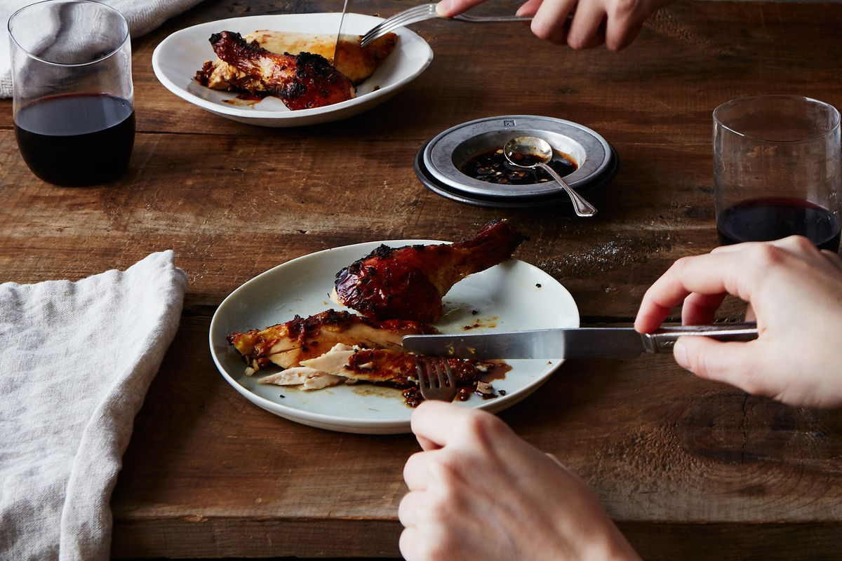 Misoyaki Roast Chicken With Shoyu Onion Sauce Recipe — Dishmaps