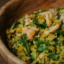 Leftover Salmon Kedgeree