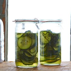 Quick Cucumber and Shiso Pickles
