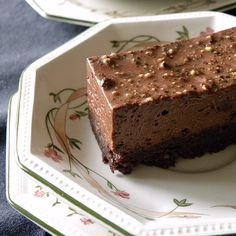 Chocolate & Black Pepper Mousse Cake