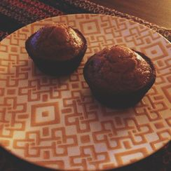 Delicious and healthy whole wheat muffin with wheat germ