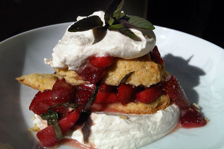 Market Strawberries & Chantilly Cream with Cornmeal Shortcakes