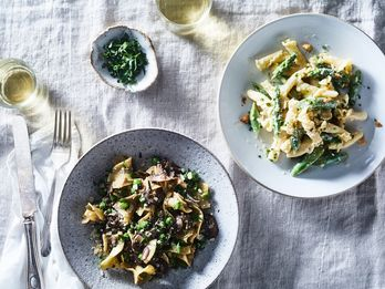 Let Mascarpone Luxe Up Mushroom Marsala Noodles (& Soooo Much More)