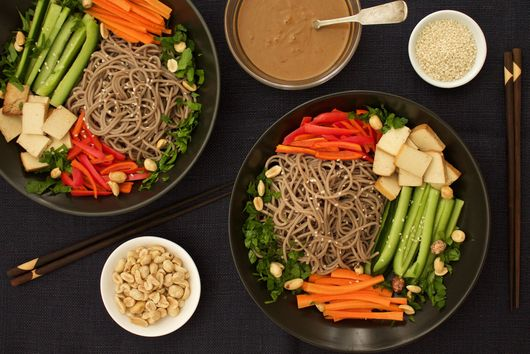 Soba Noodle Salad With Peanut Butter Dressing