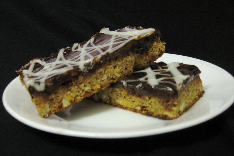 Gluten Free White Mocha Almond Fudge Bars