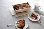 Applesauce Carrot Bread with Pecan Streusel