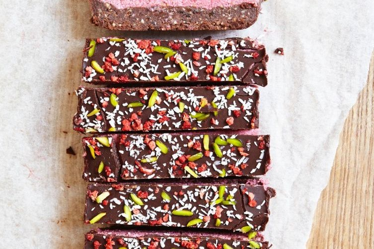 Chocolate and Raspberry slice