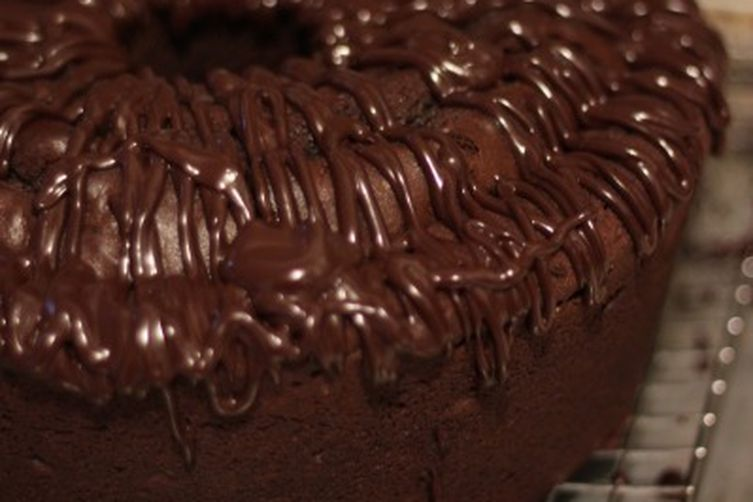 Chocolate-Mashed Potato Cake with Ganache