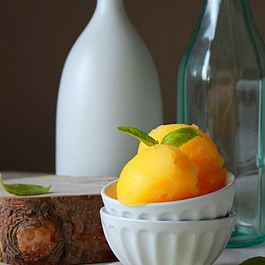 Fresh orange basil sorbet