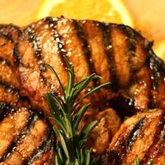 Grilled Orange Ham Steak