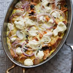 Bagel and Cream Cheese Strata
