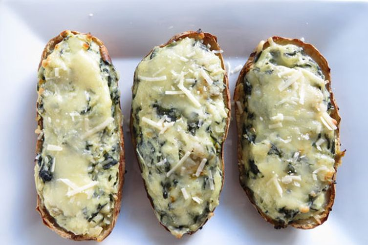 Spinach & Artichoke Twice-Baked Potatoes