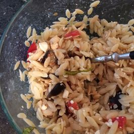 sweet and savory orzo