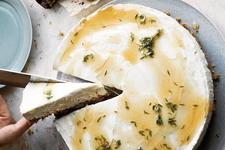 Ottolenghi's Honey & Yogurt Set Cheesecake