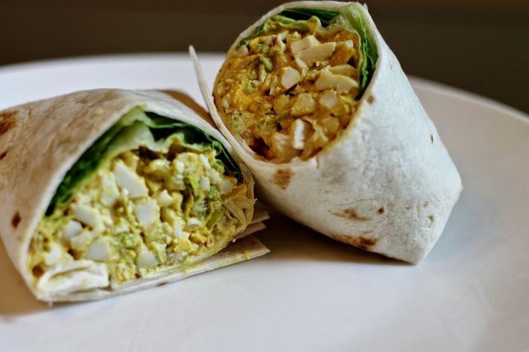 Curry Egg Salad Wrap