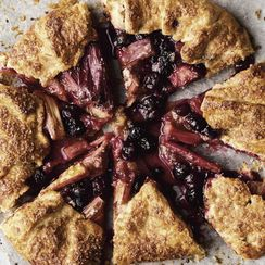Rhubarb and Blueberry Galette