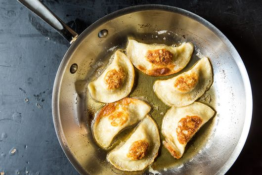 Potato, Mushroom, and Caramelized Onion Pierogi