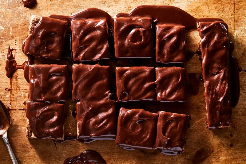 This cayenne-milk chocolate ganache can top pretty much any dessert.