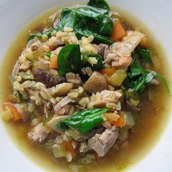 Mushroom, Barley & Chicken Soup
