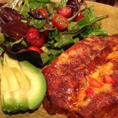 Cheese Enchiladas with New Mexican Red Chile Sauce
