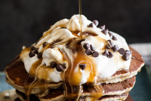Fluffy Chocolate Chip Almond Flour Pancakes