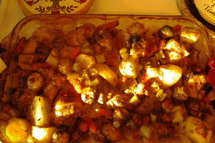 Sage & Onion Chicken with Potatoes & Mushrooms