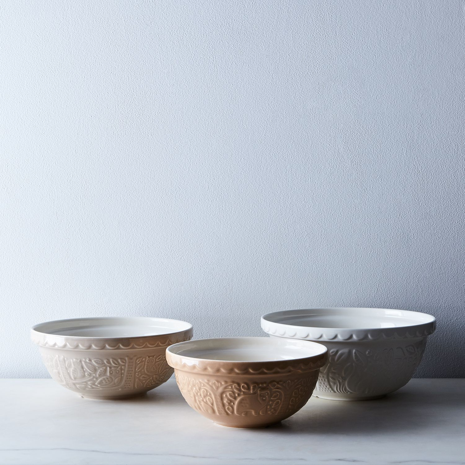 mason cash forest mixing bowls on food52