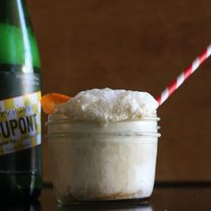 Boozy Beer Float (Peppered Honey-Pear Ice Cream with Saison DuPont)