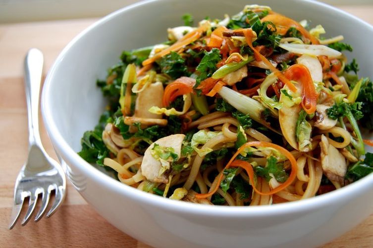 Cold Winter Vegetable Noodle Salad