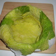 Savoy cabbage savory cake