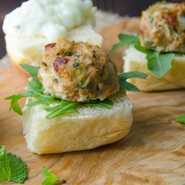 mediterranean turkey meatballs with tzatziki